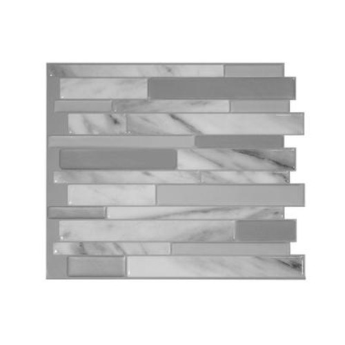 Smart Tiles Milano Carrera 11.55 in. W x 9.65 in. H Peel and Stick Decorative Mosaic Wall Tile Backsplash