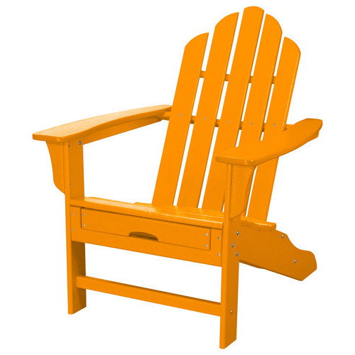 Hanover - All-Weather Adirondack Chair with Ottoman - Tangerine