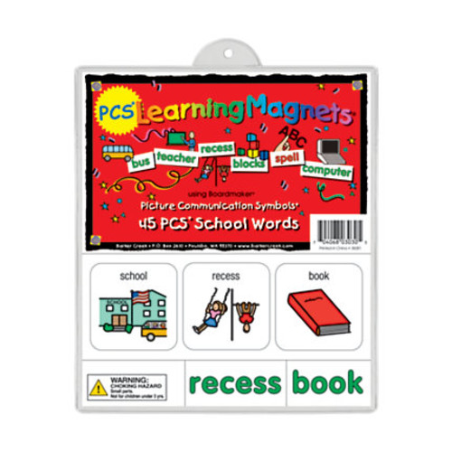 Barker Creek Magnets, Learning Magnets, PCS School Words Set, Grades Pre-K+, Pack Of 90