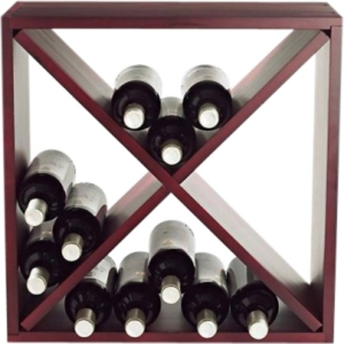 Wine Enthusiast 24-Bottle Compact Cellar Cube Wine Rack in Mahogany