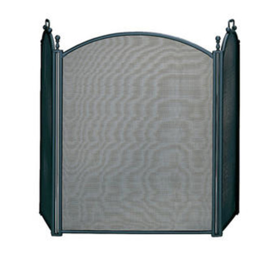UniFlame S-3652 3 Fold Large Diameter Black Screen with Woven Mesh
