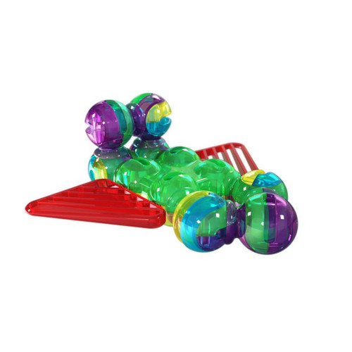 Lite Poppers STEM Learning 2 in 1 Plane Construction Toy Kit- LED Light, Build and Play Model Planes- Creates 2 Planes
