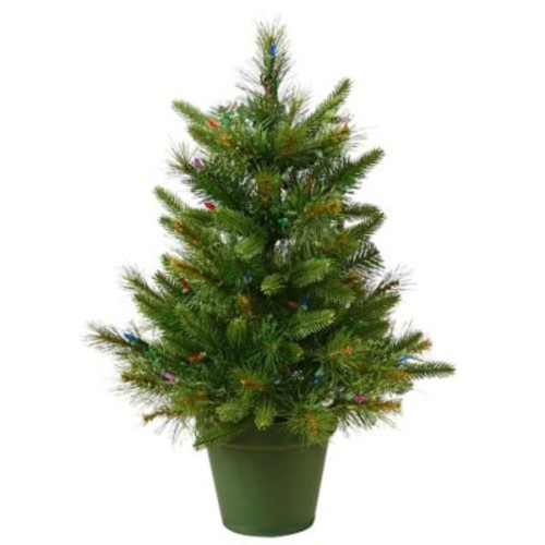 Vickerman Cashmere 2' Green Pine Artificial Christmas Tree w/ 50 Dura-Lit Clear Lights