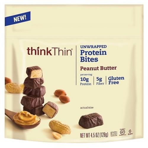 Thinkthin Protein Bites Peanut Butter Unwrapped - 4.5oz