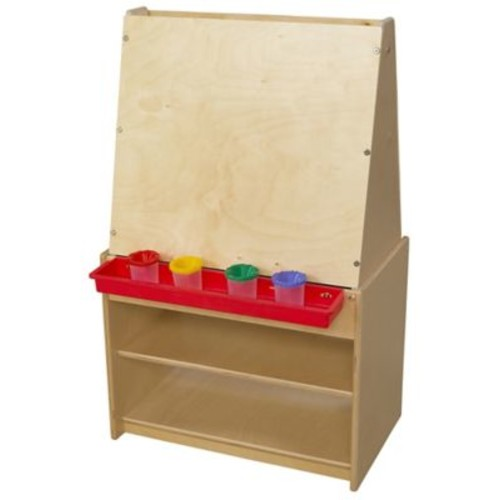 Wood Designs Healthy Kids Art Center Shelving Unit