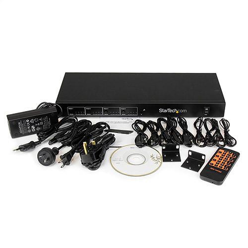 StarTech.com 4x4 HDMI Matrix Switcher / HDMI Extender over Cat5 / Cat6 - 230ft (