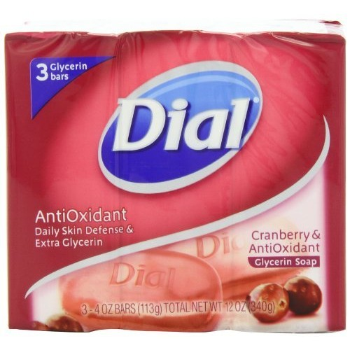 Dial Skin Care Bar Soap, Cranberry and Antioxidant, 4 Ounce, 9 Bars [Cranberry & Antioxidant]