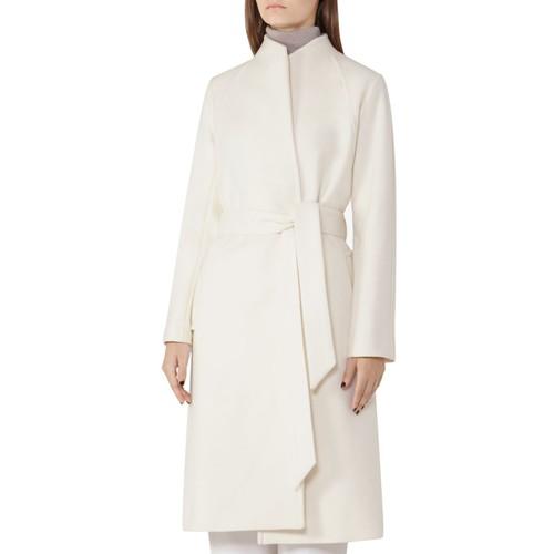 REISS Skye Belted Wool-Blend Coat