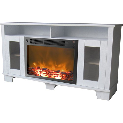 Cambridge Savona 59 in. Electric Fireplace in White