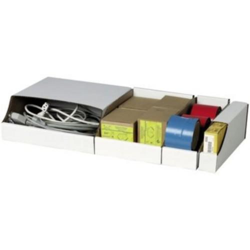 Quill Brand Jumbo Open Top Corrugated Parts Bin Box, 8Hx8Wx12D