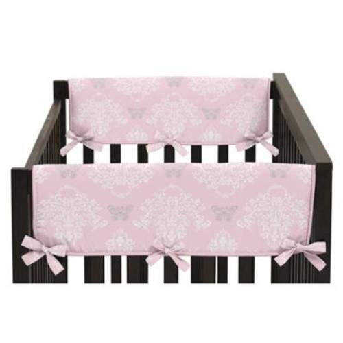 Sweet Jojo Designs Alexa Reversible Short Crib Rail Guards in Pink/Grey