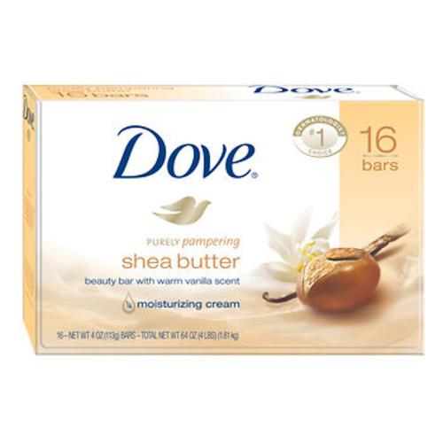 Dove Shea Butter Bar Soap, 4 oz., 16 Bars