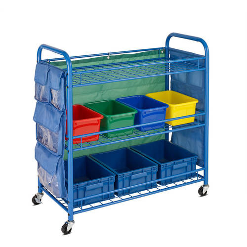 Honey-Can-Do All-Purpose Teaching Cart in Blue