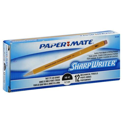 Paper-Mate PAP3030131 Sharpwriter Mechanical Pencil, HB, .7 mm, Yellow Barrel, 12 Per Pack