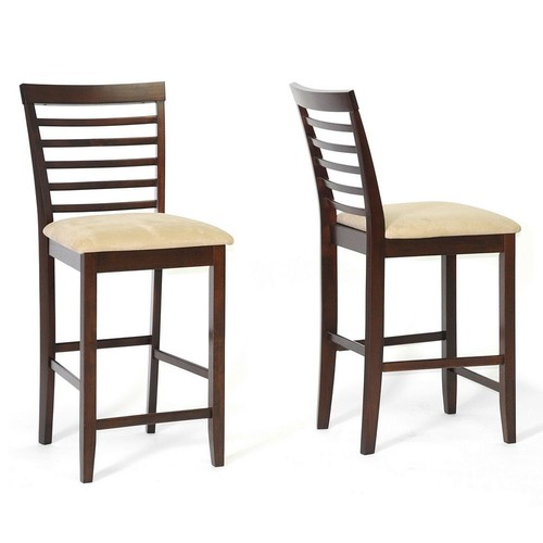 Baxton Studio Kelsey Modern Counter Stool 2-piece Set