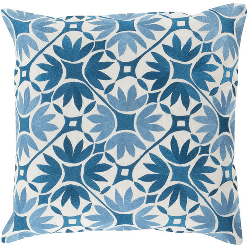 Decorative Carole Floral 18-inch Throw Pillow [option : Polyester]