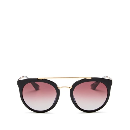 PRADA Polarized Round Sunglasses, 52Mm