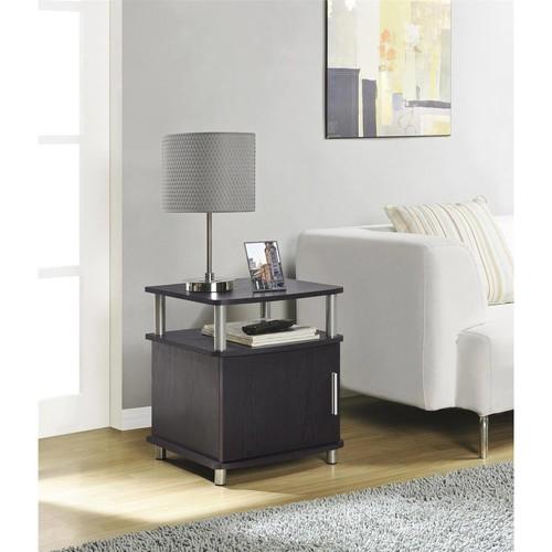 Altra Furniture Carson End Table with Storage in Espresso Finish