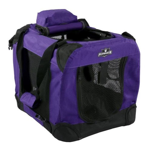 Petmaker Purple Portable Pet Crate with Soft Sides - Mini