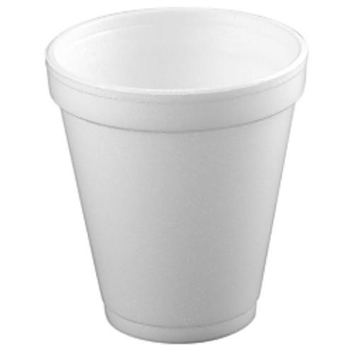Dart Insulated Foam Drinking Cups, White, 8 Oz, Box Of 51
