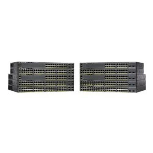Cisco Catalyst 2960X-48LPD-L - Switch - managed - 48 x 10/100/1000 (PoE+) + 2 x SFP+ - desktop, rack-mountable - PoE+ (WS-C2960X-48LPD-L)