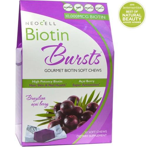 NeoCell Biotin Bursts Gourmet Biotin Soft Chews Brazilian Acai Berry