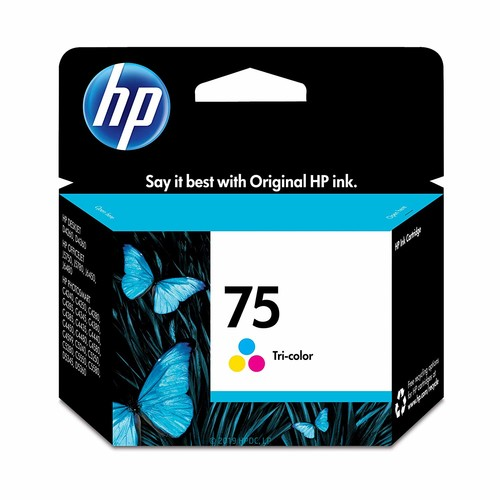 HP 75 Tri-Color Original Ink Cartridge For HP Deskjet D4260, D4360, HP Officejet J5740, J5750, J5780, J5788, J6450, J6480, HP Officejet J5788, J6480, HP PhotoSmart C4210, C4240, C4250, C4280, C4285, C4342, C4344, C4345, C4380, C4382, C4384, C4385