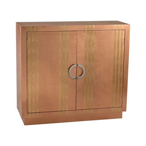 Dimond Home Coffee, Console, Sofa & End Tables LS Dimond Home Gold Stripe Copper Cabinet