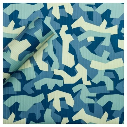 Abstract Blue Gift Wrap - Spritz