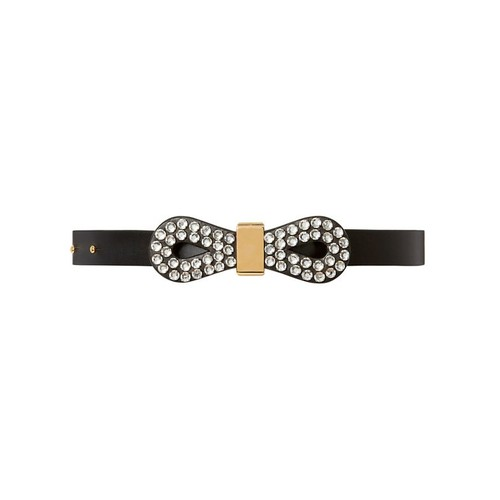 MARNI Strass Crystal Bow Belt