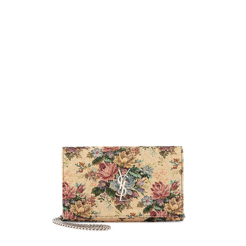 SAINT LAURENT Monogram Tapestry Bouquet Shoulder Bag, Multi