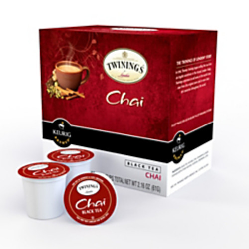Twinings Chai Tea K-Cup Pods, 0.4 Oz, Box Of 18