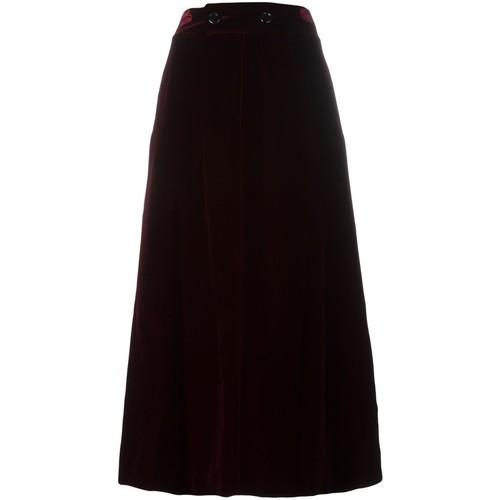 SAINT LAURENT Long Velour Skirt