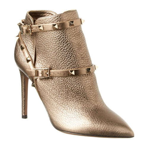 VALENTINO Rockstud Leather Ankle Boot