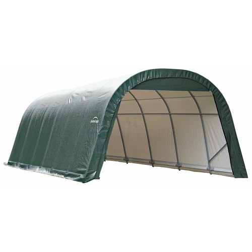 ShelterLogic 90234 Green 12'x28'x10' Round Style Shelter [Green, 12'x28'x10']