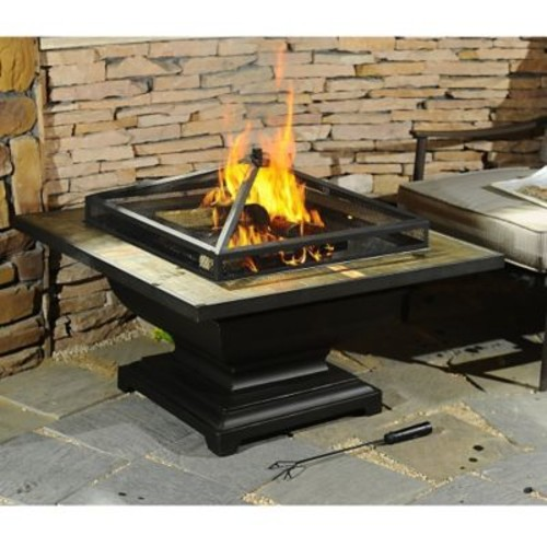 Sunjoy Trent Steel Wood Burning Fire pit