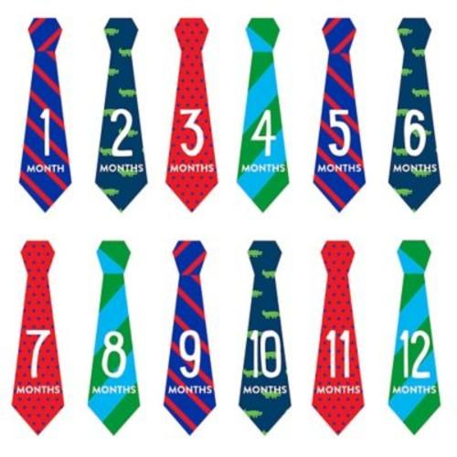 Pearhead Necktie Milestone Stickers (Set of 12)