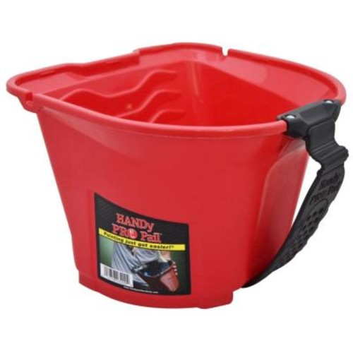 HANDy Paint Products 1/2 gal. Red Plastic Paint Pail