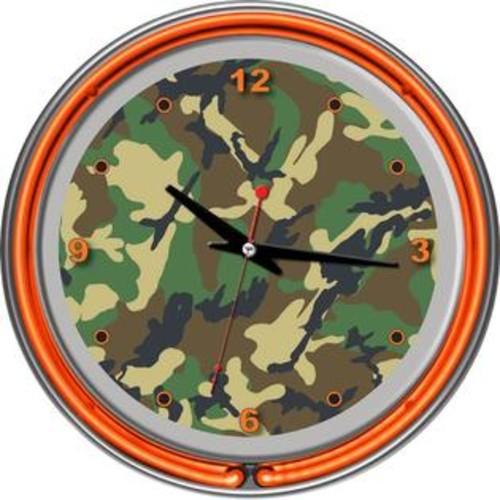 Trademark Global Hunt Double Ring Neon Clock