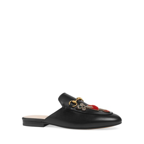 GUCCI Princetown Embellished Mules