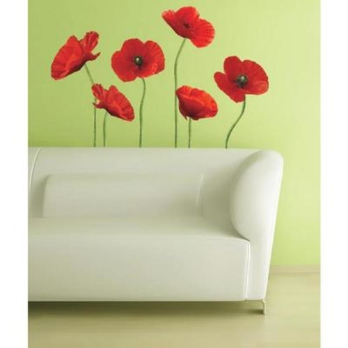 Peel & Stick Giant Wall Decals - Poppies at Play
