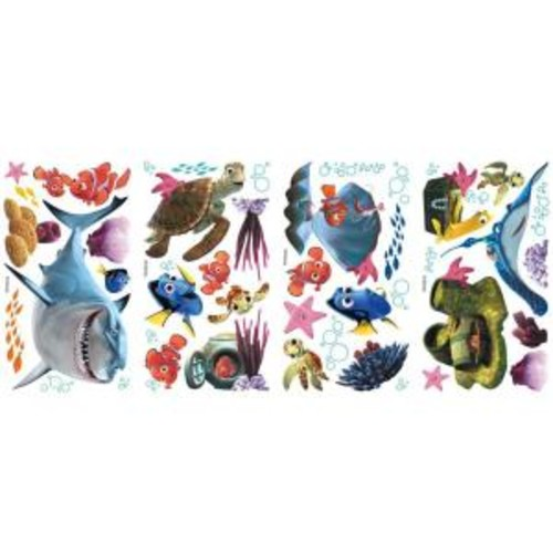 RoomMates 10 in. x 18 in. Finding Nemo 44-Piece Peel and Stick Wall Decals