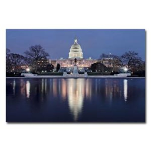 Trademark Fine Art 22 in. x 32 in. Capitol Reflections Canvas Art