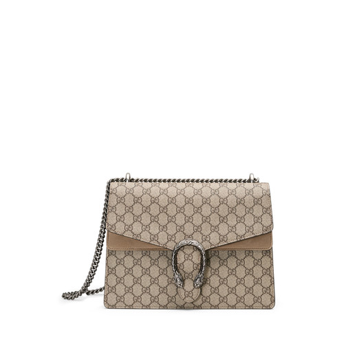 GUCCI Dionysus Gg Supreme Shoulder Bag, Ebony/Taupe