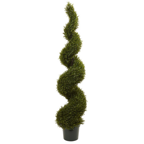 Nearly Natural 6' Rosemary Spiral Tree (Indoor/Outdoor) Silk