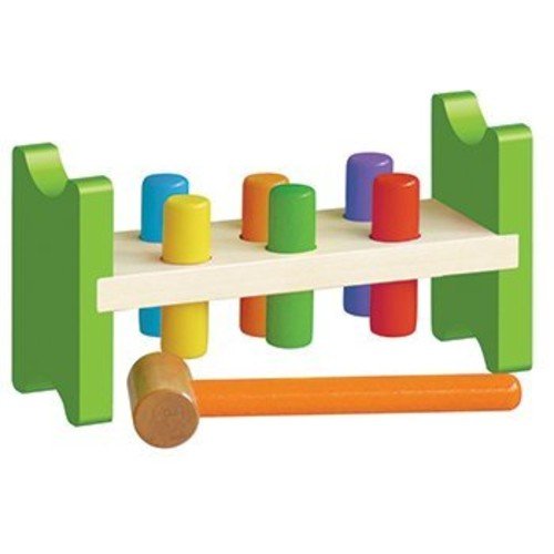 Classic Wooden Pound A Peg Toy [1]