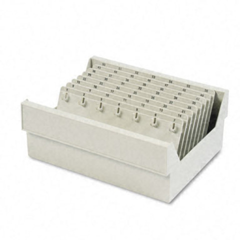 SteelMaster In-Drawer Key Control, 112-Key, Molded Plastic, Putty, 12 x 9 7/8 x 4 3/4