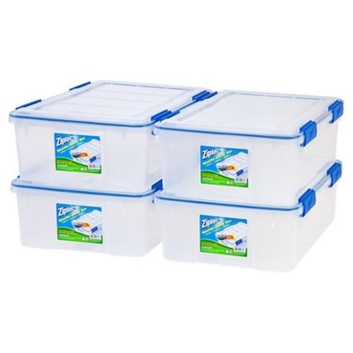 Ziploc WeatherShield 26.5 Qt Storage Box - 4 Pack