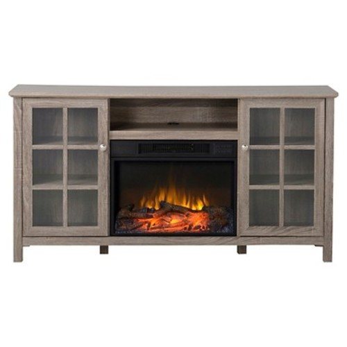 Provence Media Stand Fireplace Reclaimed Wood 60