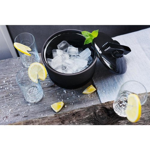 Magisso Naturally Cooling Ceramic Ice Bucket with Tongs